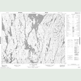 Canadian Topo Map - Lac des Prairies - Map 022L09