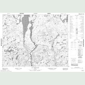 Canadian Topo Map - Lac Onistagane - Map 022L11