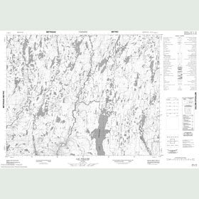 Canadian Topo Map - Lac Piraube - Map 022L12