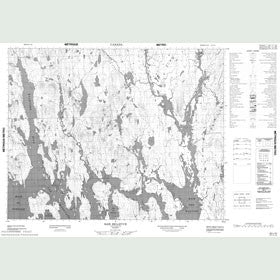 Canadian Topo Map - Baie Bellevue - Map 022L15