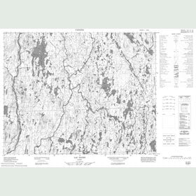 Canadian Topo Map - Lac Natipi - Map 022M06