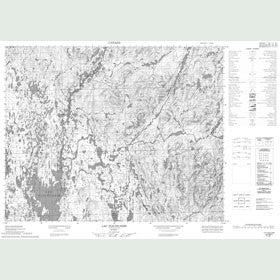 Canadian Topo Map - Lac Piacouadie - Map 022M07