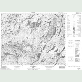 Canadian Topo Map - Lac Pambrun - Map 022M10