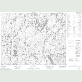 Canadian Topo Map - Lac Courtois - Map 022M11