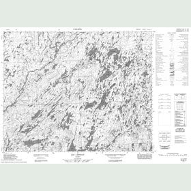 Canadian Topo Map - Lac l'Épinay - Map 022M12