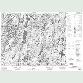 Canadian Topo Map - Lac Indicateur - Map 022M13