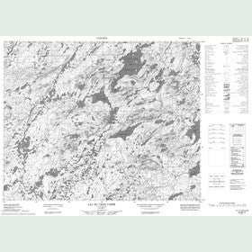 Canadian Topo Map - Lac du Cran Cassé - Map 022M15