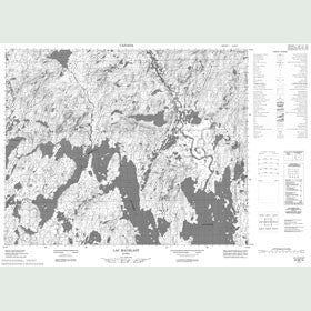Canadian Topo Map - Lac Maublant - Map 022M16