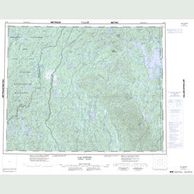 Canadian Topo Map - Lac Plétipi - Map 022M
