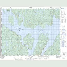 Canadian Topo Map - Lac Lacoste - Map 022N02