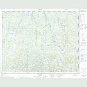 Canadian Topo Map - Rivière Tortueuse - Map 022N04