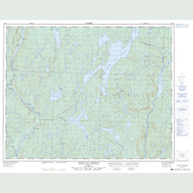 Canadian Topo Map - Grand Lac Germain - Map 022O02