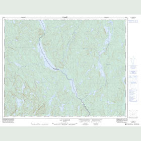 Canadian Topo Map - Lac Bardoux - Map 022O04
