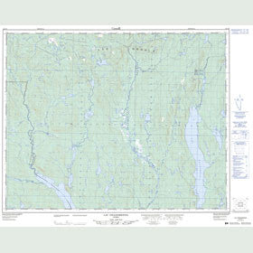 Canadian Topo Map - Lac Grandmesnil - Map 022O05