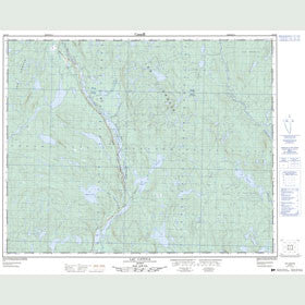 Canadian Topo Map - Lac Catoua - Map 022O06