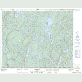 Canadian Topo Map - Lac Marceau - Map 022O07