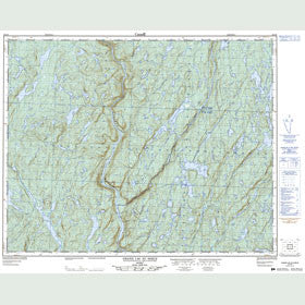 Canadian Topo Map - Grand Lac au Sable - Map 022O08