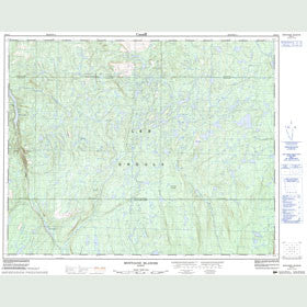 Canadian Topo Map - Montagne Blanche - Map 022O11