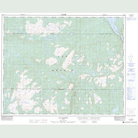 Canadian Topo Map - Lac Raudot - Map 022O12