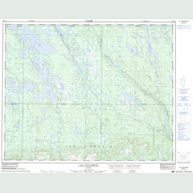 Canadian Topo Map - Lac Gaillarbois - Map 022O14