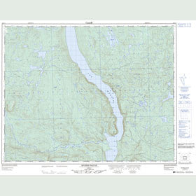 Canadian Topo Map - Rivière Baune - Map 022P02