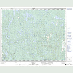 Canadian Topo Map - Lac Vital - Map 022P06