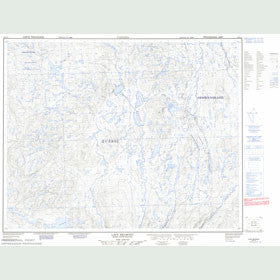 Canadian Topo Map - Lacs Belmont - Map 022P10