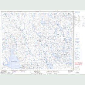 Canadian Topo Map - Lac Fournier - Map 022P11
