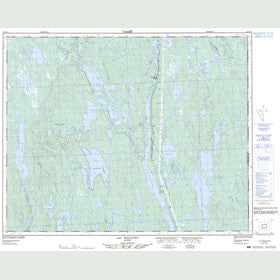 Canadian Topo Map - Lac Wacouno - Map 022P12
