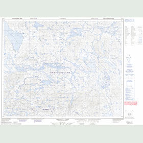 Canadian Topo Map - Domagaya Lake - Map 022P15