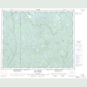 Canadian Topo Map - Lac Fournier - Map 022P