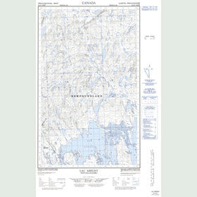 Canadian Topo Map - Lac Assigny - Map 023A03W