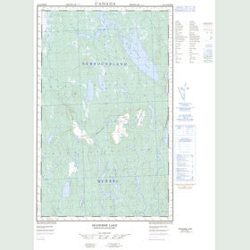 Canadian Topo Map - Seahorse Lake - Map 023A04W