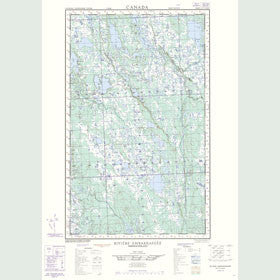 Canadian Topo Map - Dumbell Lake - Map 023A05W