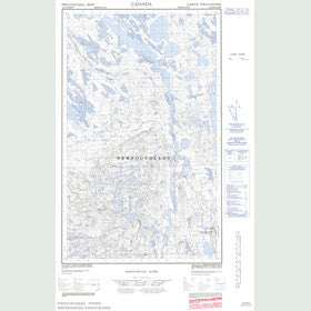 Canadian Topo Map - Map 023A08W