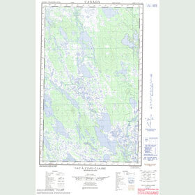 Canadian Topo Map - Lac à l'Eau Claire - Map 023A12E
