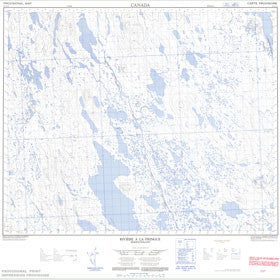 Canadian Topo Map - Rivière à la Fringue - Map 023A13