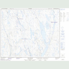 Canadian Topo Map - Lac Caopacho - Map 023B01