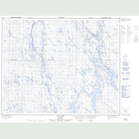 Canadian Topo Map - Lac Noré - Map 023B04