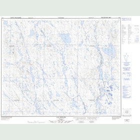 Canadian Topo Map - Lac Peppler - Map 023B05