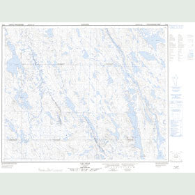 Canadian Topo Map - Lac Gras - Map 023B06