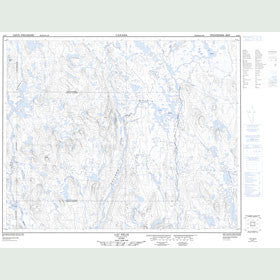 Canadian Topo Map - Lac Félix - Map 023B07