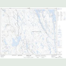 Canadian Topo Map - Redfir Lake - Map 023B08