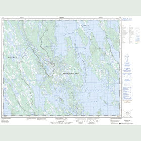 Canadian Topo Map - Ashuanipi Lake - Map 023B09