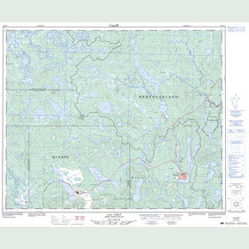 Canadian Topo Map - Lac Virot - Map 023B14