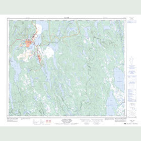 Canadian Topo Map - Flora Lake - Map 023B15