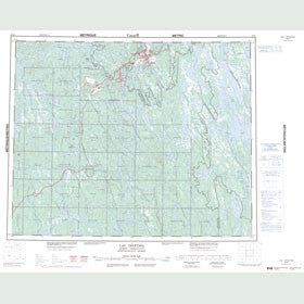 Canadian Topo Map - Lac Opocopa - Map 023B