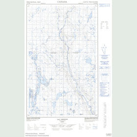 Canadian Topo Map - Lac Griffon - Map 023C02E