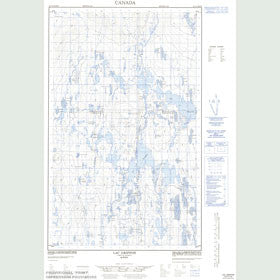 Canadian Topo Map - Lac Griffon - Map 023C02W