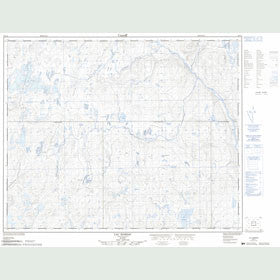 Canadian Topo Map - Lac Marsac - Map 023C04